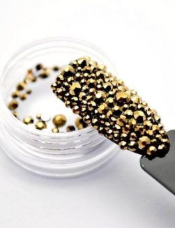 Strass Aurum Gold Mix 2mm 4mm 5mm