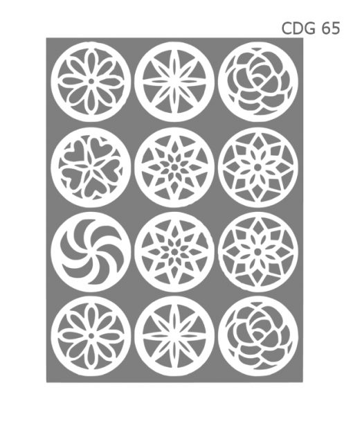 Stencil Airbrush Nails Russo - CDG 65 1